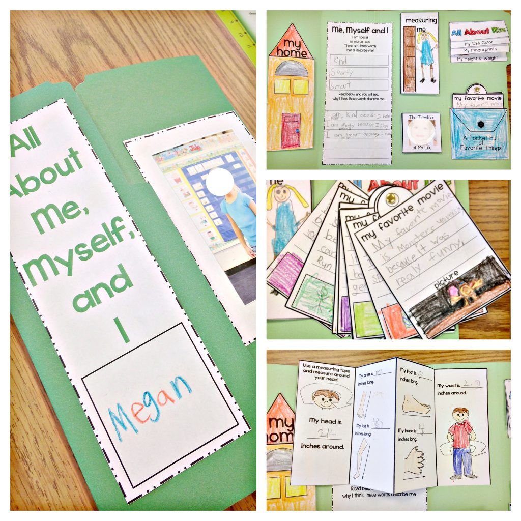 All About Me lapbook project