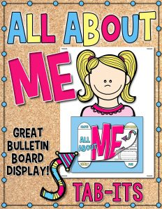 All About Me Tab-Its Project