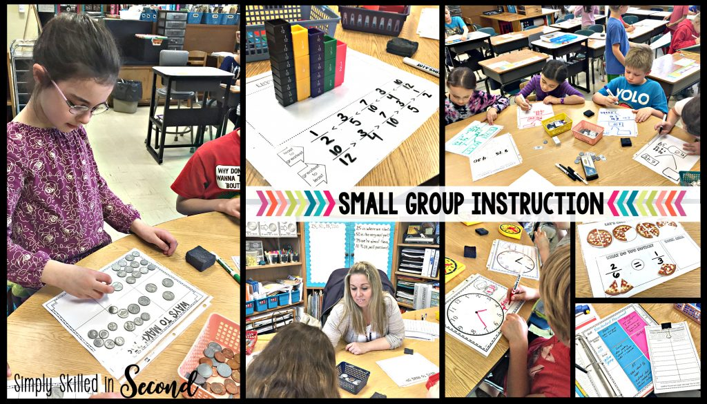 using math manipuatives during small group instruction