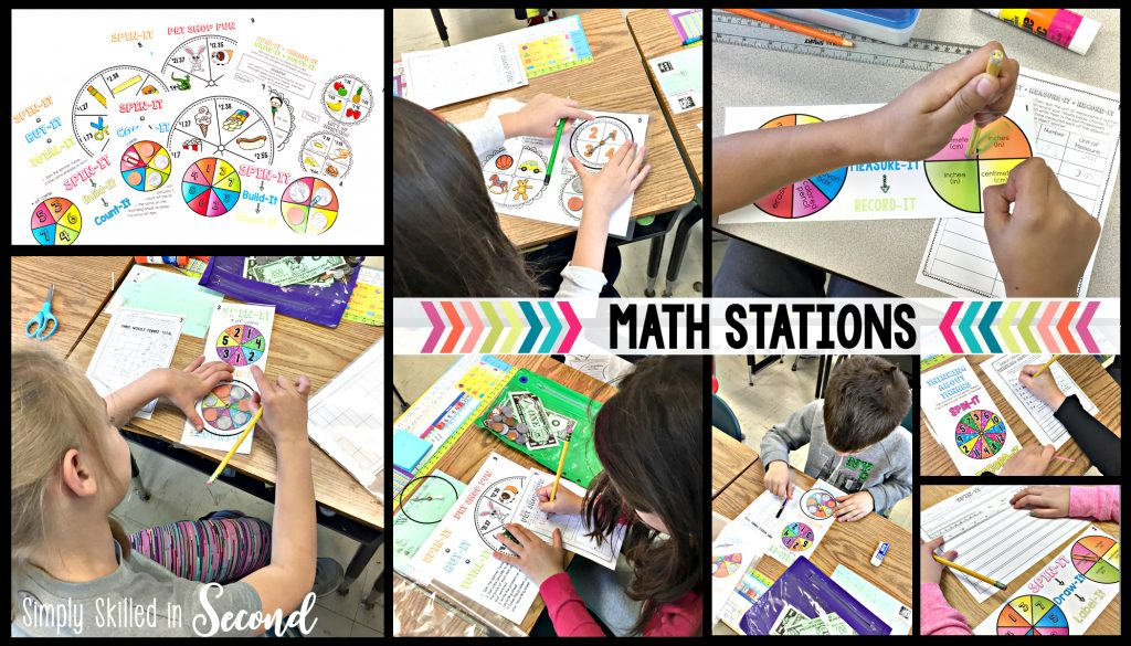 guided math, math stations, spin-its math stations, math centers, how to implement math stations