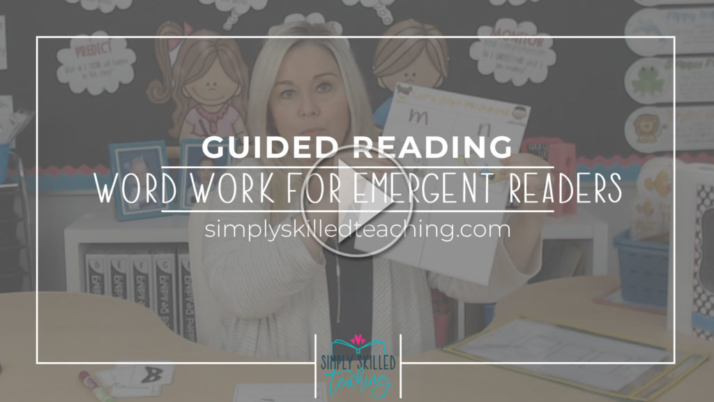 Word Work for Emerging readers