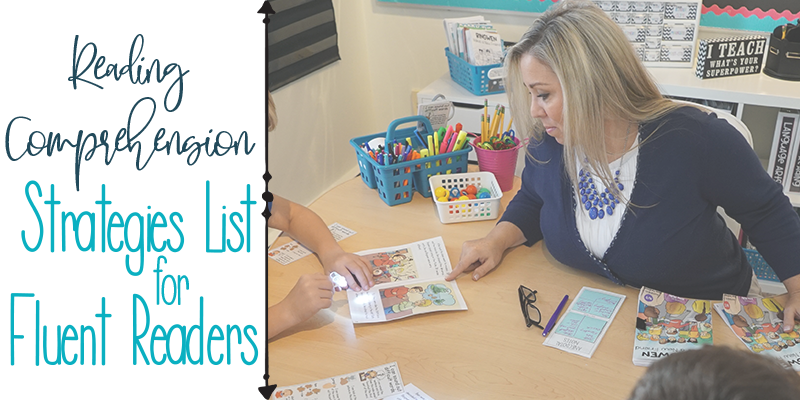 Strategies List for Fluent Readers